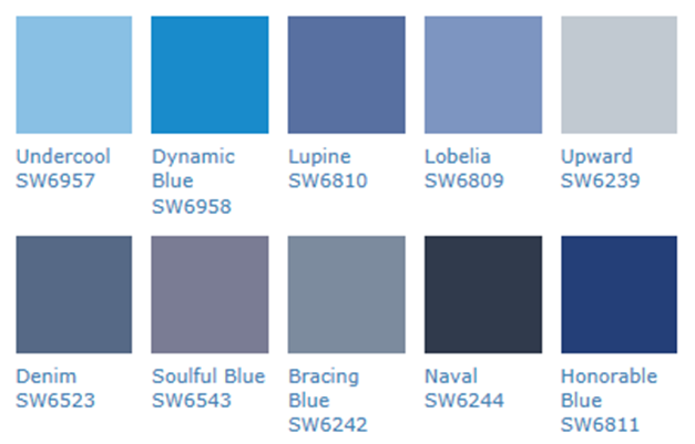 Blue Paint Colors And Names